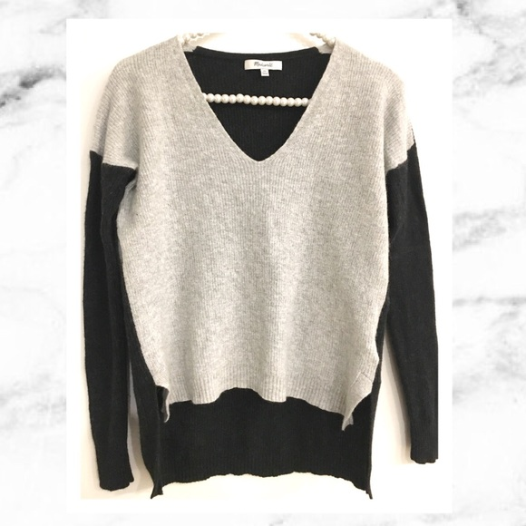 0fd9a7f286 Madewell Sweaters - Madewell V Neck Sweater in Colorblock